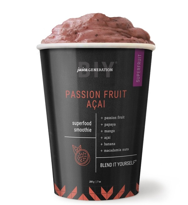Passion Fruit Açai  Superfood Smoothie